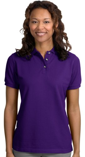 - Port Authority Ladies Heavyweight Cotton Pique Polo. L420 Purple S