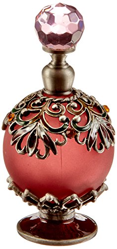 StealStreet SS-A-51616 Crystal Jewel Fragrance Perfume Bottle, Elegant Red