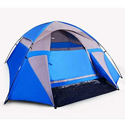 RT 3-Person Blue Dome Shaped Camping Outdoor Tent: Garden & Outdoor