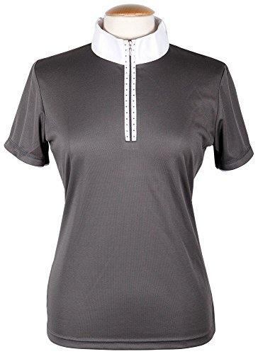 Harry's Horse Damen Turniershirt Champ Ltd, Dunkler Schatten/Weiß, 140
