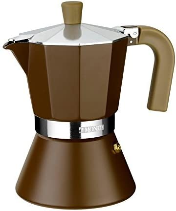 Monix Italiana M670012 Cafetera Cream Tz, Aluminio, Marrón, 12 ...