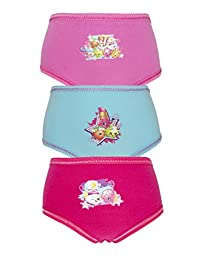 Cartoon Character Products Shopkins 3 Pack Girls Pants/Knickers