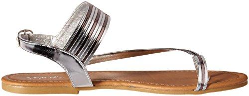 QupidArcher Argenté 478X Sandale pour Anneau Qupid Orteil Femme avec Plate rzwqrxFd