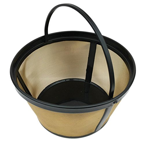 Beach Permanent Gold Tone Filter For Hamilton, 8 to 12-Cups Apply filter maker, vacuum cleaner, Coffee Machine, Water Purifier, Straight Drink Machines, ()