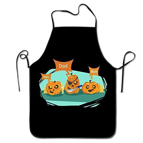(edawplan Kitchen SuppliesDad Halloween Pumpkin Costume Cooking Aprons Simple Cool)