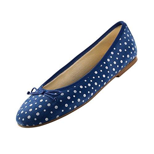 blue 6 5 shoes mac´s Weiß Women's Blau Ballet Flats Blau blue 0wxU0IPqnY