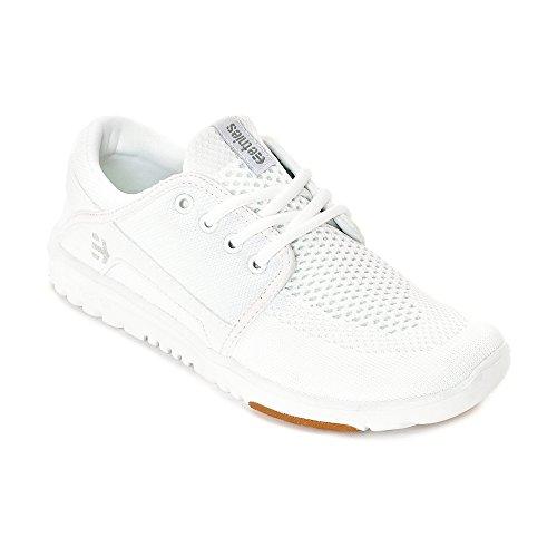 Etnies Damen Sneaker SCOUT YB W´S - WHITE/WHITE/LIGHT GR white/white/light grey