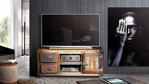 Mueble TV Salon Vintage Rustico Acabado a Mano.135cm x 56cm ...