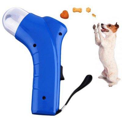 Aeeque® Hund Katze Spielzeug / Interaktiv / Haustier Futter Sender / mit ablösbar Schwarz Tragegurt - Farbe Blau