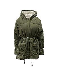 Asher Women's Winter Hooded Fleece Coat with Pockets