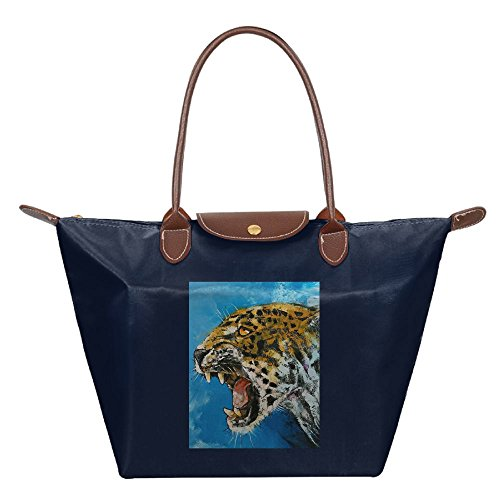 Shoulder Navy Tiger Roaring Fashion Beach Handbag Bag Tote Womens Hobo Bags wIBxn4vq1Y