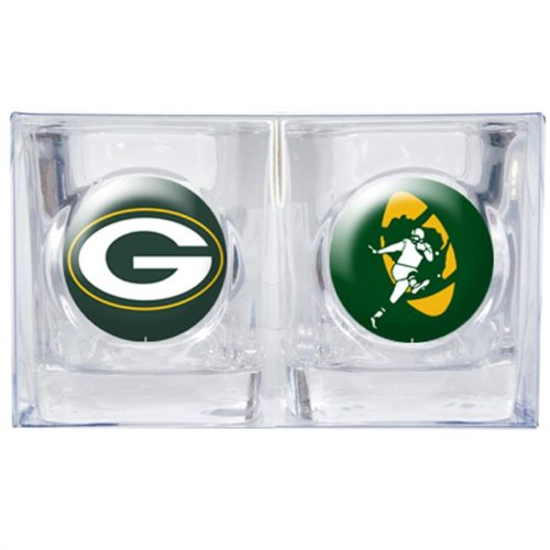 Green Bay Packers 2pc Collector's Shot Glass Set