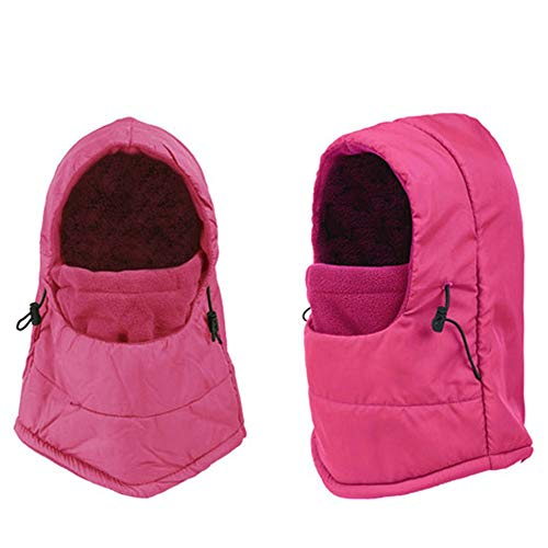 Blouse for Women,Winter Motorcycle Ski Balaclava Full Face Neck Mask Waterproof Windproof Cap Hat,Boys' Hats & Caps,Hot Pink,One Size