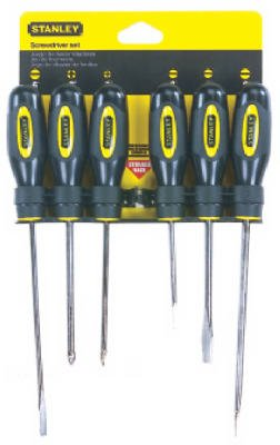 Stanley Consumer Tools 60-060 6-Piece Fluted Screwdriver Set