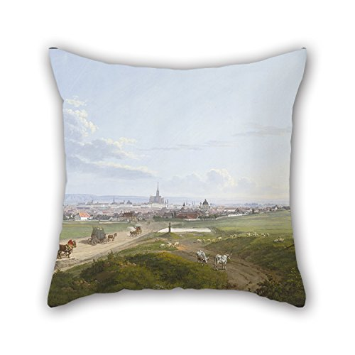- Oil Painting Jakob Alt - View of Vienna from The Spinner On The Cross, 1817 Pillowcase 20 X 20 Inches / 50 by 50 cm Best Choice for Drawing Room Family Girls Bench Wedding Family with Both Sides