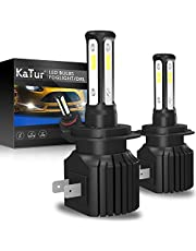 KATUR 9005 HB3 LED Fog Light Bulbs Headlight Bulbs DRL Extremely Bright Canbus 3570 Chips Max 100W 3000 Lumens Conversion Kit,6000K Xenon White-2 Yrs Warranty