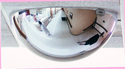 See All PVT-BAR2X2 Panaramic Full Dome T-Bar Plexiglas Security Mirror, 360 Degree Viewing Angle, 2' x 2' Drop In, 24