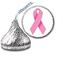 216 Pink Ribbon Breast Cancer Awareness Labels/Stickers for Hershey's Kisses Candies - Fundraiser by JS&B Enterprises by JS&B Enterprises