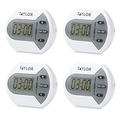 Taylor Precision Products Digital Minute/Second Timer - Set of 4