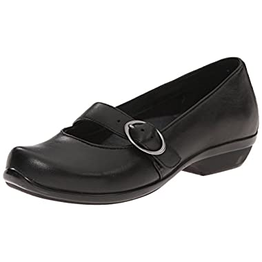 Dansko Women's Orla Mary Jane Flat, Black Nappa, 40 EU/9.5-10 M US