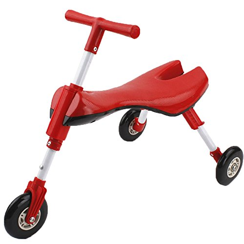Fly Bike Foldable Indoor/Outdoor Toddlers Glide Tricycle - Non Scratch Wheels - No Setup Required - No Assembly Required