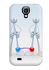 Lennie P. Dallas's Shop Best 3166444K73936094 Scratch-free Phone Case For Galaxy S4- Retail Packaging - Robot Friends