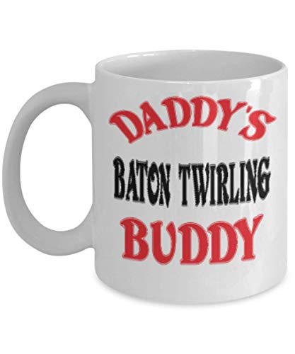 11oz Funny Daddy's Baton twirling Buddy Coffee Mug - Unique Cool Cute Father's Day Gifts Trust Me Great Novelty Gift Dad,al4853 -