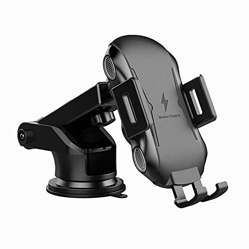 Wireless Car Phone Charger,10W Qi Fast Charging Auto-Clamping Car Charger Mount,Air Vent Dashboard Car Phone holder for iPhone 12 Pro/12/12 Pro Max/11/11 Pro Max/X/8 Plus,Samsung S20/Note 20(Black)