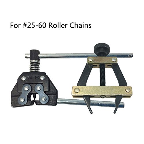 Aobbmok #25-60 Roller Chain Holder Puller&Breaker Cutter #25 35 41 40 50 60 415H 428H 520 530 Tools Kit for Bicycle,Motorcycle Chains Replacements ()