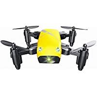 Startview S9 Altitude Hold 0.3MP HD Camera 6-Axis Foldable WIFI RC Quadcopter Pocket Drone (Yellow)