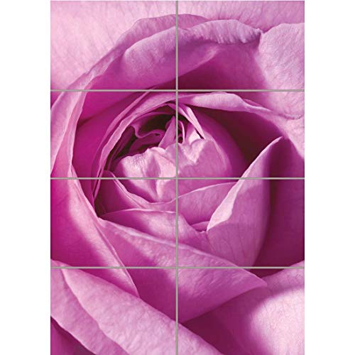 Doppelganger33 LTD Pink Rose Flower Macro Home Decor Wall Art Multi Panel Poster Print 33x47 ()