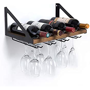 Amazon.com: Rustic State Wall Mounted Wood Wine Rack or ...