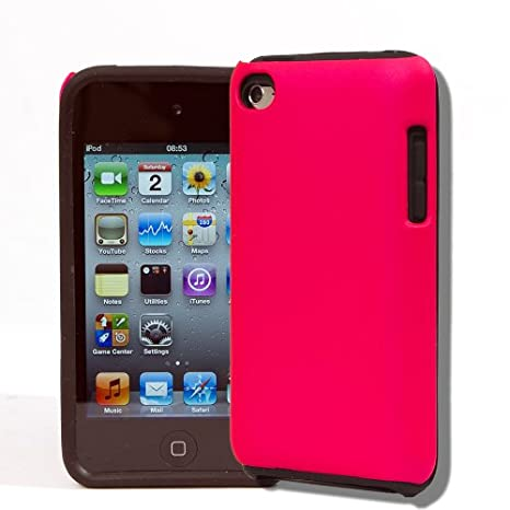 4 G Touch parte rosa Hybrid & parte negro silicona + Kit ...