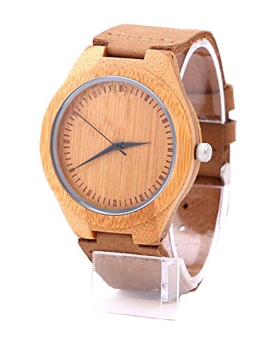 Mens Wood Wrist Watch,Mercimall Natural Wooden Watches,Handmade Anniversary Gifts for Groomsmen