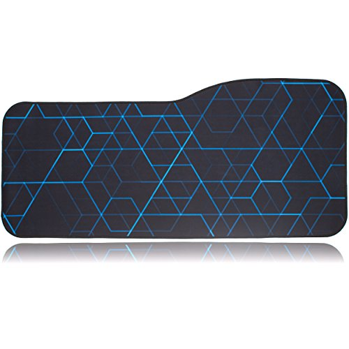 BRILA Extended Mouse pad - Curve Design Gaming Mouse pad - Stitched Edges & Skid Proof Rubber Base - 29'' x 13.8'' x 0.12'' X-Large Mouse Keyboard Desk Mat for Computer Laptop (Geometrical Lines) by Brila