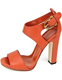 Lifford Leather Bamboo Buckle Platform Sandals 338712 9110