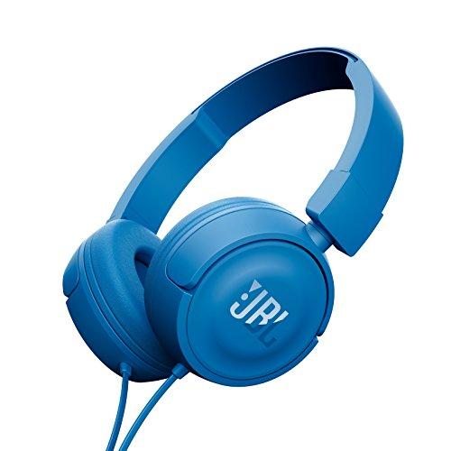 JBL T450 On Ear Headphones with Mic  Blue
