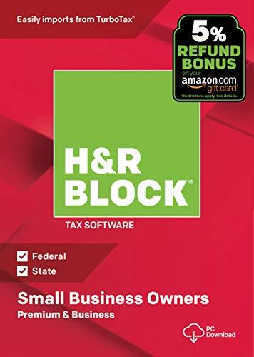 - H&R Block Tax Software Premium & Business 2018 with 5% Refund Bonus Offer [Amazon Exclusive] [PC Download]