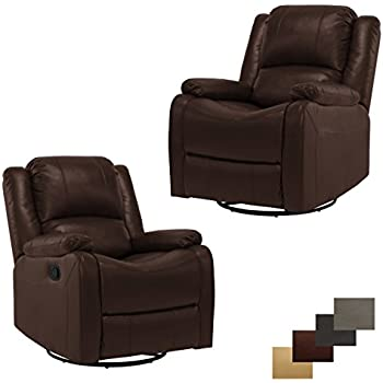 Amazon Com Opulence Home Perth Swivel Glider Recliner