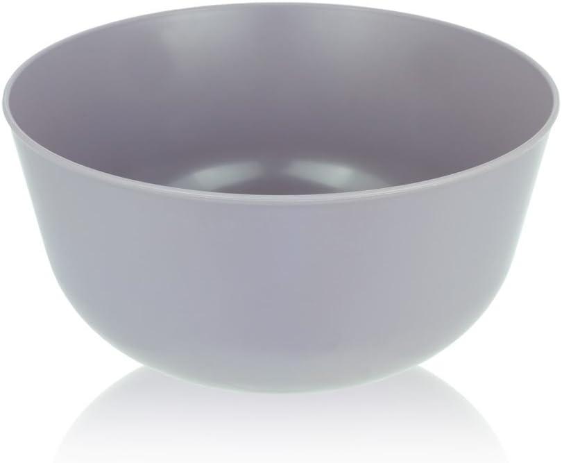 L'entramise Premium Disposable Soup, Grain, and Dessert Bowls, 24 oz, 20 Pack (Slate Grey)