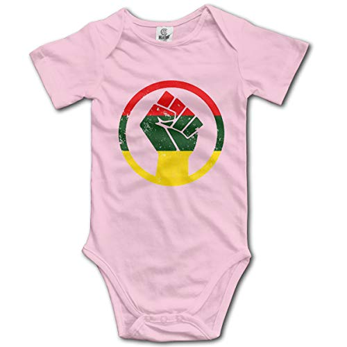 JDFIF FJFS Newborn Baby Outfit Creeper Short Sleeves Jumpsuits - African Black Power