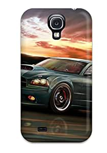 First Class Case Cover For Galaxy S4 Dual Protection Cover Tesla Roadster