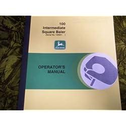 John Deere 100 Square Baler OEM OEM Owners Manual