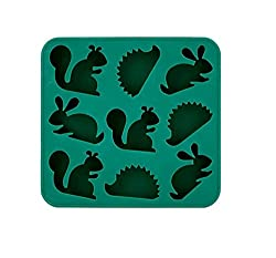 Kikkerland Woodlands Ice Tray, Green