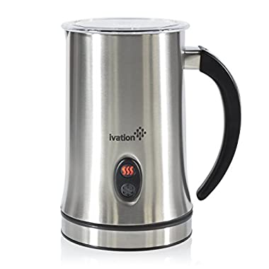 Ivation Cordless Automatic Electric Milk Frother & Warmer, Steamer, Mixer, Cappuccino Maker – Rapidly Warms, Heats & Steams – 250ml (8.4oz)