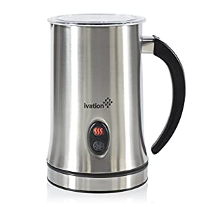 Ivation Cordless Automatic Electric Milk Frother & Warmer : Hot milk vs froth