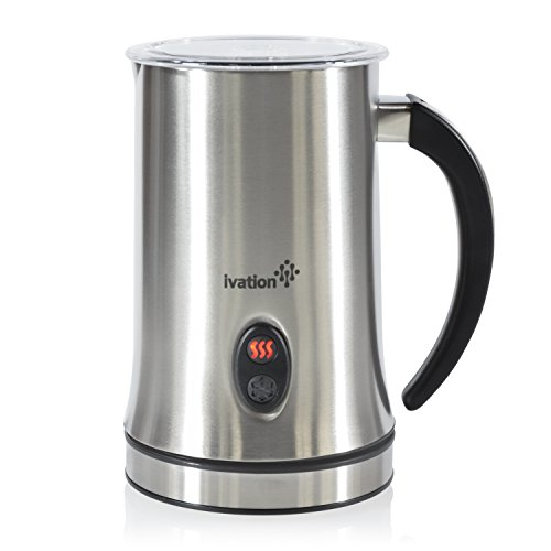 Ivation Cordless Automatic Electric Milk Frother & Warmer, Steamer, Mixer, Cappuccino Maker - Rapidly Warms, Heats