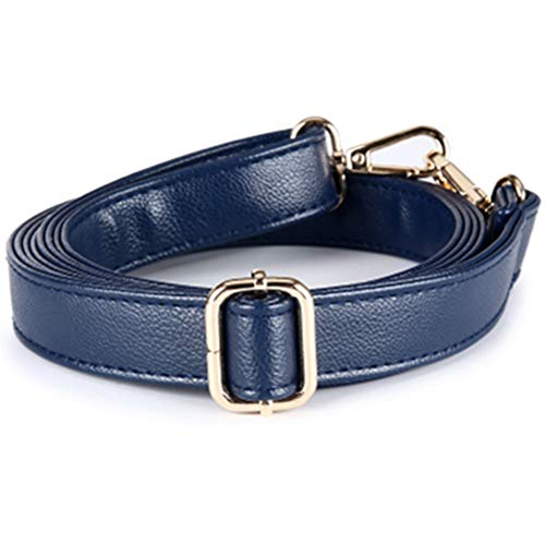 n Style Adjustable Leather Strap Wide 2.5cm with Golden Hardware Women Purse Bag Handles/Shoulder Straps Replacement (Deep Blue) ()