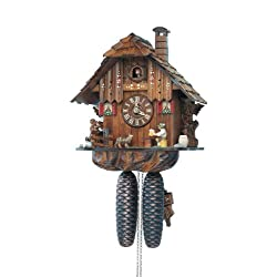 8-Day Black Forest House Handlaid Cuckoo Clock