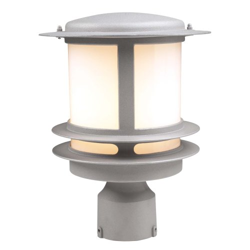 PLC Lighting 1896 SL Exterior Post Light, Tusk Collection, Silver finish
